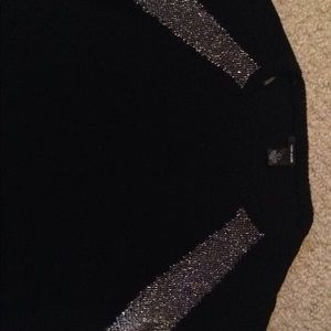 Women's DKNY black/sparkle sweater size small